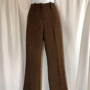 Orange/Brown Tweed Pants by The Limited